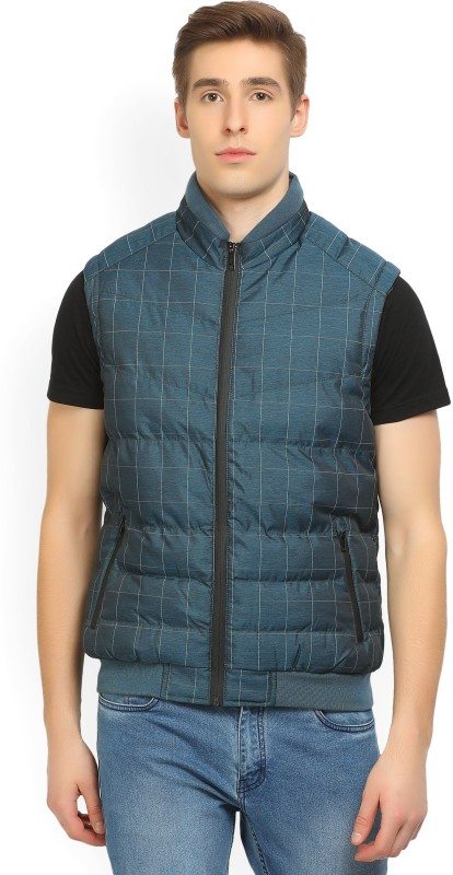Arrow New York Sleeveless Checkered Mens Jacket