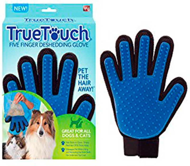 Zenon Pet Glove For Dogs & Cats Grooming Gloves for Dog, Cat(Blue, Fits All)