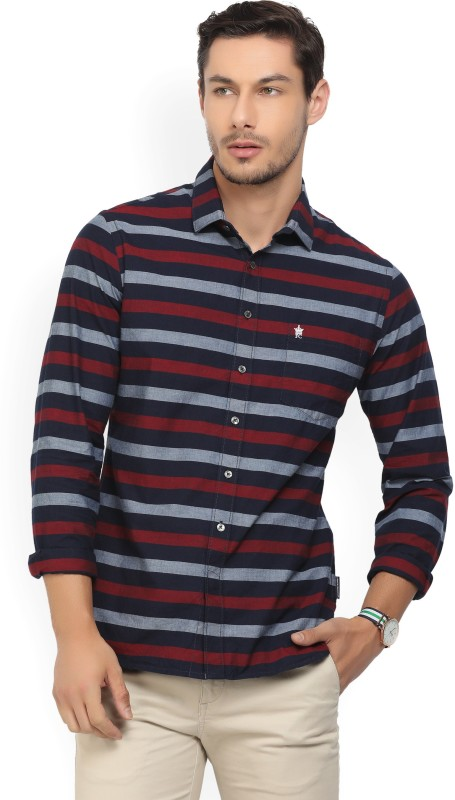 French Connection Men Striped Casual Multicolor Shirt