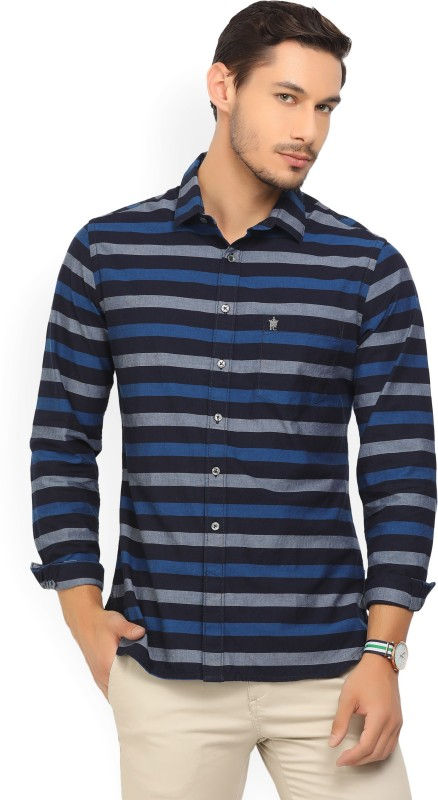 French Connection Mens Striped Casual Multicolor Shirt