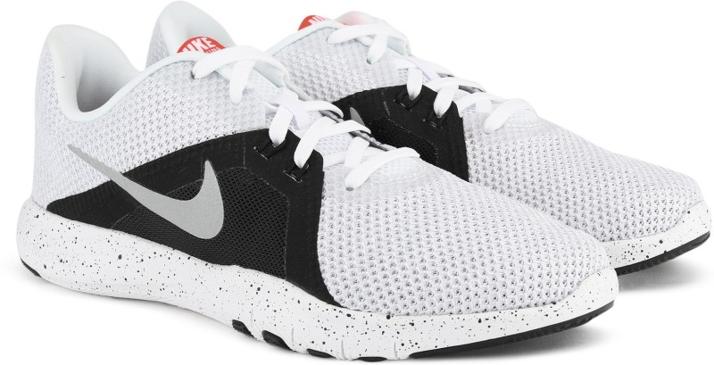 Nike W NIKE FLEX TRAINER 8 Casuals For Men(White, Black)