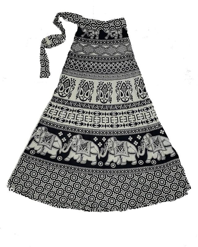 BLACK MACY Solid Women Regular Black Skirt