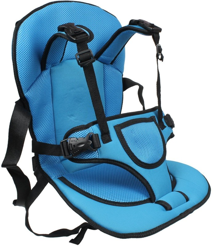 Shrih Adjustable Baby Car Cushion Seat with Safety Belt Multi-function BLUE and BLACK Forward Facing Car Seat(Blue, Black)