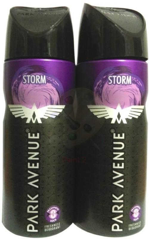 PARK AVENUE STORM BLACK Deodorant Spray - For Men & Women(130 ml, Pack of 2)