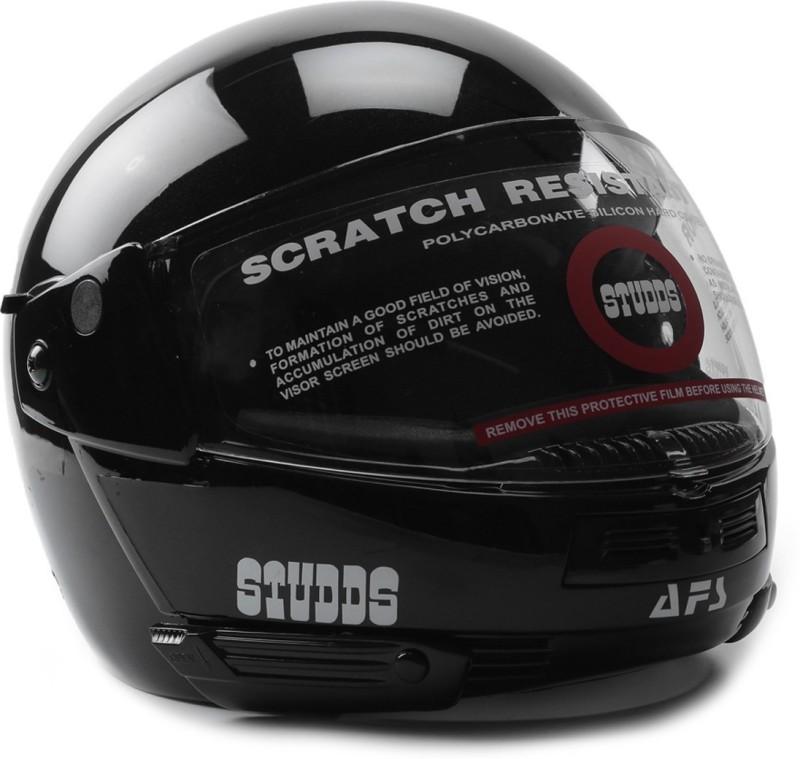 Studds Ninja Pastel Plain Motorsports Helmet(Black)