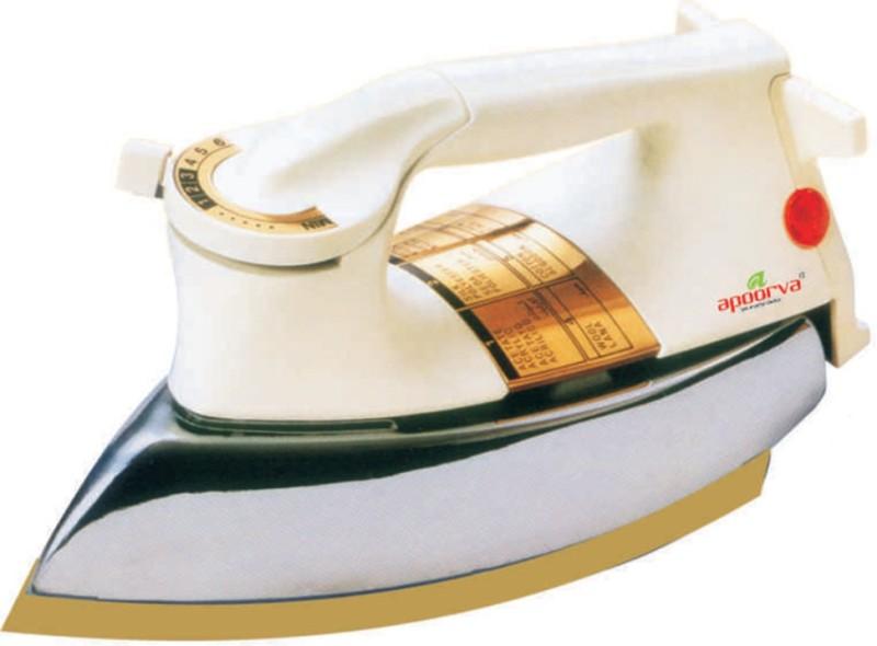apoorva 131 1000W Dry Iron(WHITE,GLOD)