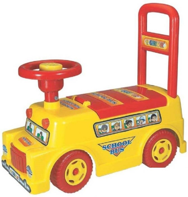 KIDLAND 2 in 1 Rider School Bus(Multicolor)