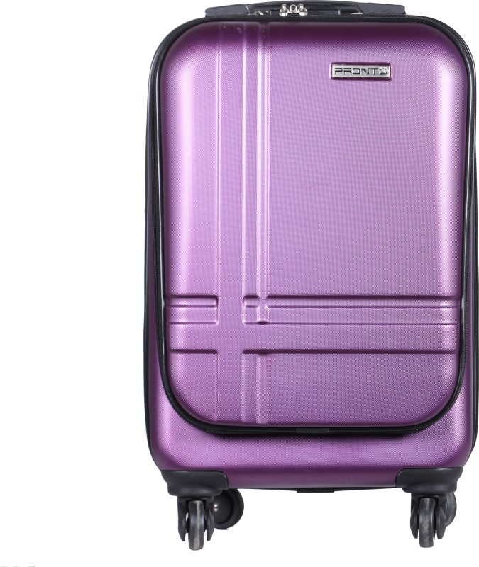 Pronto Geneva Spinner Hard Trolley 58 cm (Wine) Cabin Luggage - 22 inch(Purple)