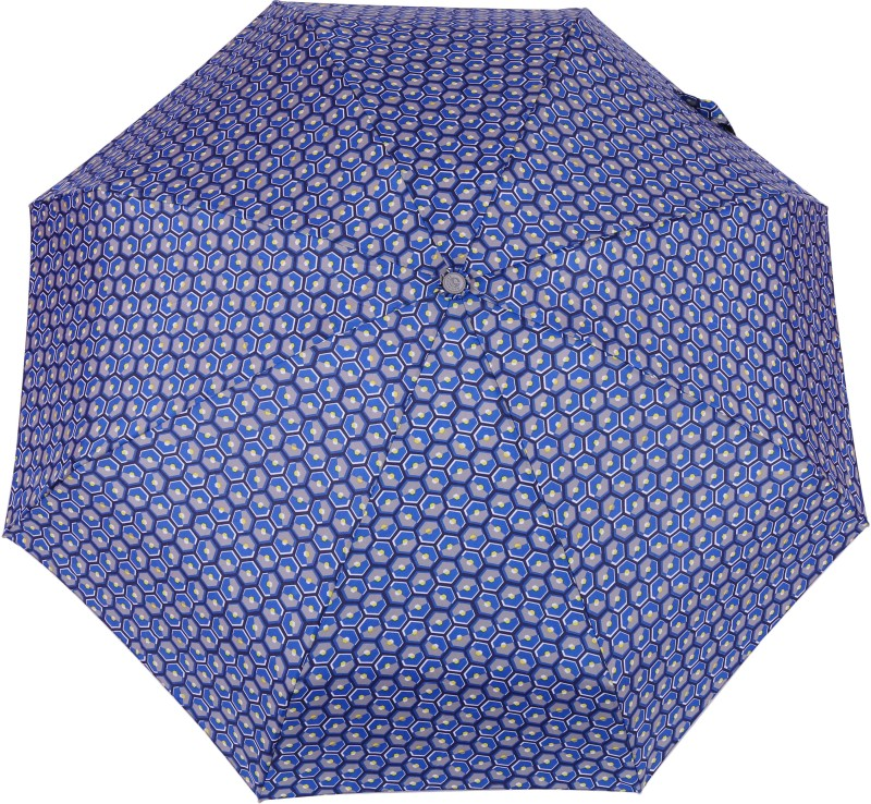 FabSeasons 5 fold Dots Digital Printed Small Compact Manual Umbrella which fits in your Handbag for women Umbrella(Blue)
