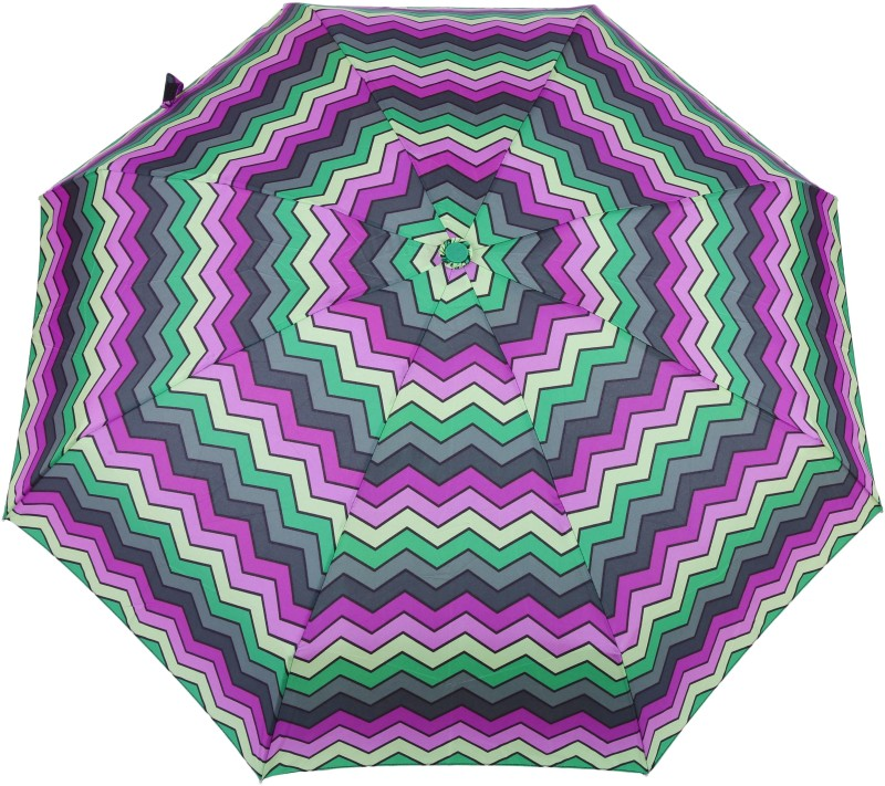 FabSeasons 5 fold Green Digital Printed Small Compact Manual Umbrella which fits in your Handbag for women Umbrella(Multicolor)