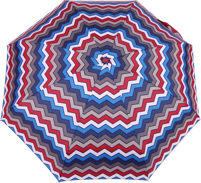 FabSeasons 5 fold Digital Maroon Printed Small Compact Manual Umbrella which fits in your Handbag for women Umbrella(Multicolor)
