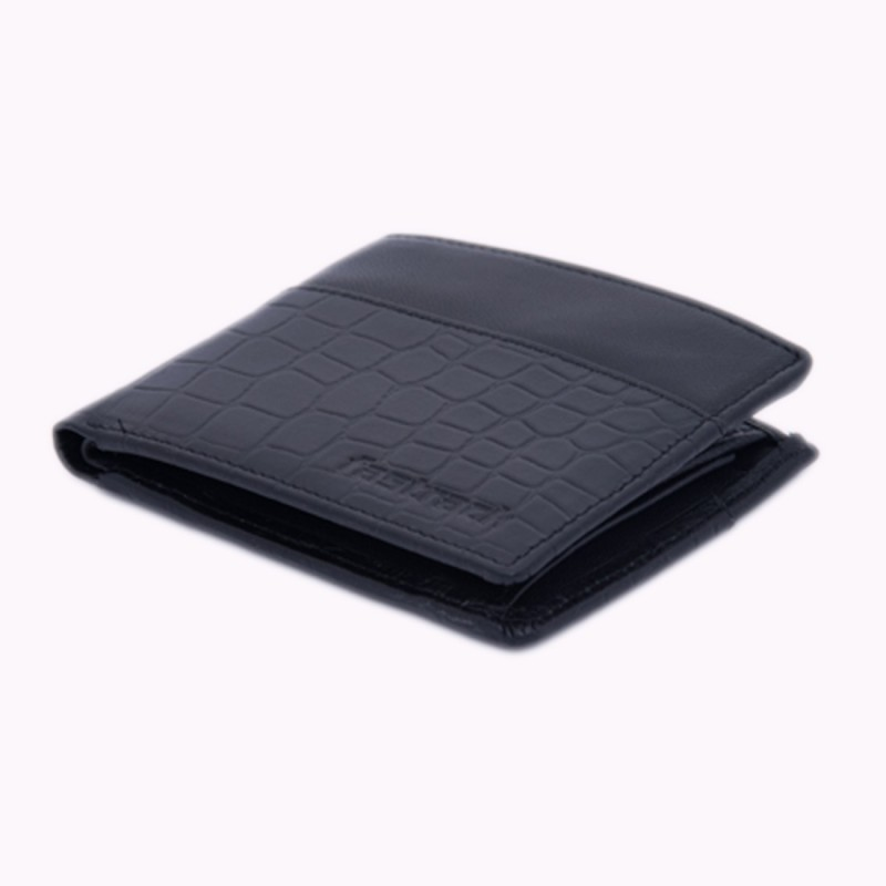 Fastrack Men Black Genuine Leather Wallet(6 Card Slots)