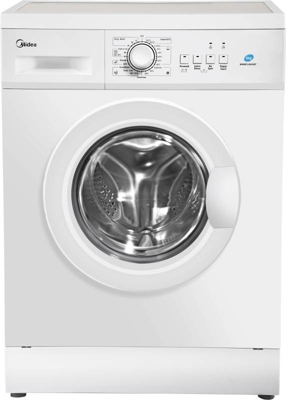 Midea 6 kg Fully Automatic Front Load Washing Machine with In-built Heater White