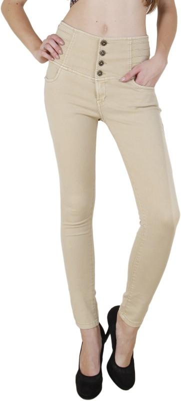 Fck-3 Slim Women Beige Jeans