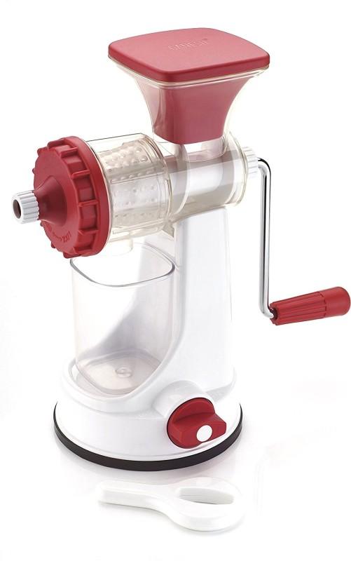 Ganesh Fruit & Vegetable juicer Plastic Hand Juicer(Red, White Pack of 1)