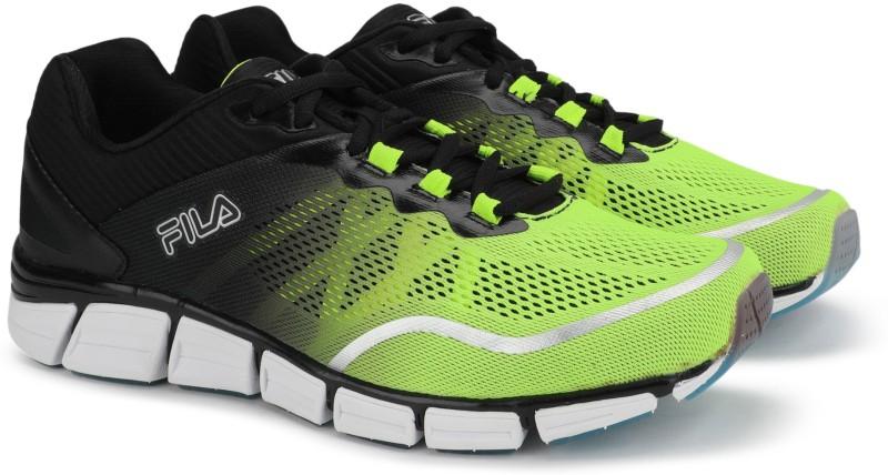 Fila ACUMEN ENZD Running Shoes For Men(Black, Green)