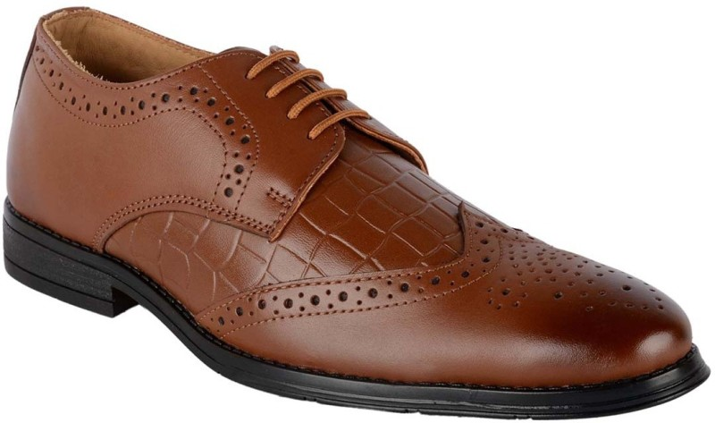ShoeAdda 1311 Lace Up For Men(Tan)