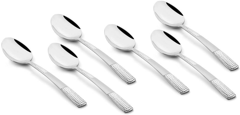 Fns International Zest Dinner Spoon Disposable Stainless Steel Tea Spoon Set(Pack of 6)
