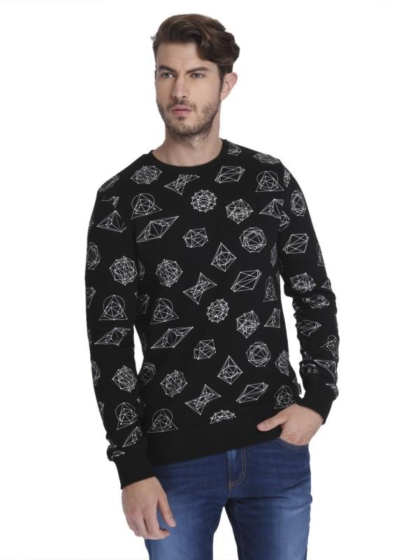 Jack & Jones Full Sleeve Self Design Men Sweatshirt