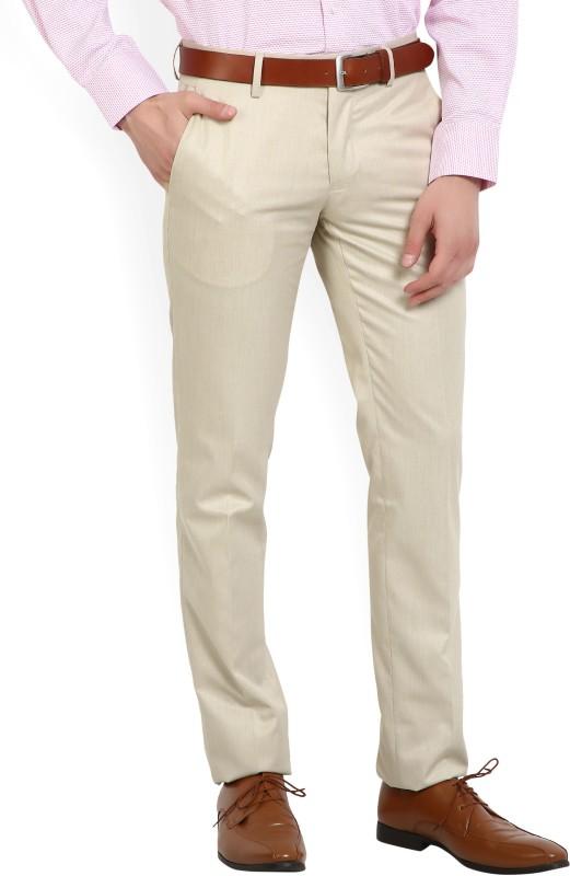 Van Heusen Slim Fit Mens Brown Trousers