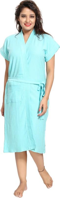 Glam World Sky Blue Free Size Bath Robe(1 Bath Robe, For: Women, Sky Blue)