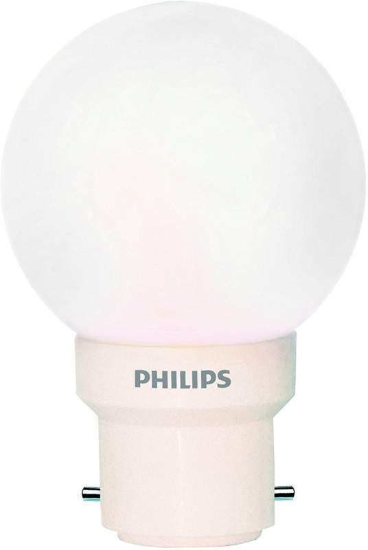 Philips 0.5 W Round B22, E27 LED Bulb(White, Pack of 2)