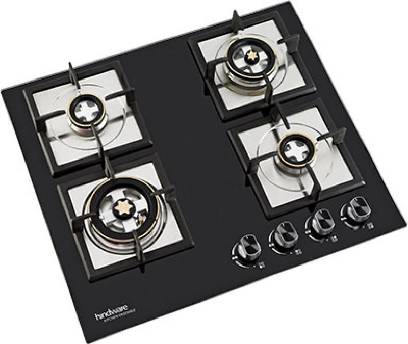 Hindware Hindware Flora Plus 4B Glass Automatic Gas Stove(4 Burners)