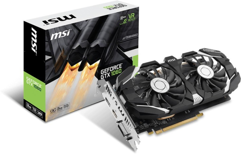 MSI NVIDIA 1060 3GB DUAL FAN 3 GB GDDR5 Graphics Card image