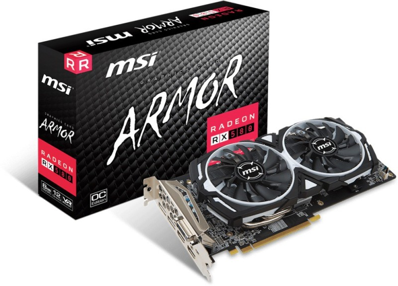 MSI AMD/ATI RX 580 8GB DUAL FAN 8 GB GDDR5 Graphics Card image