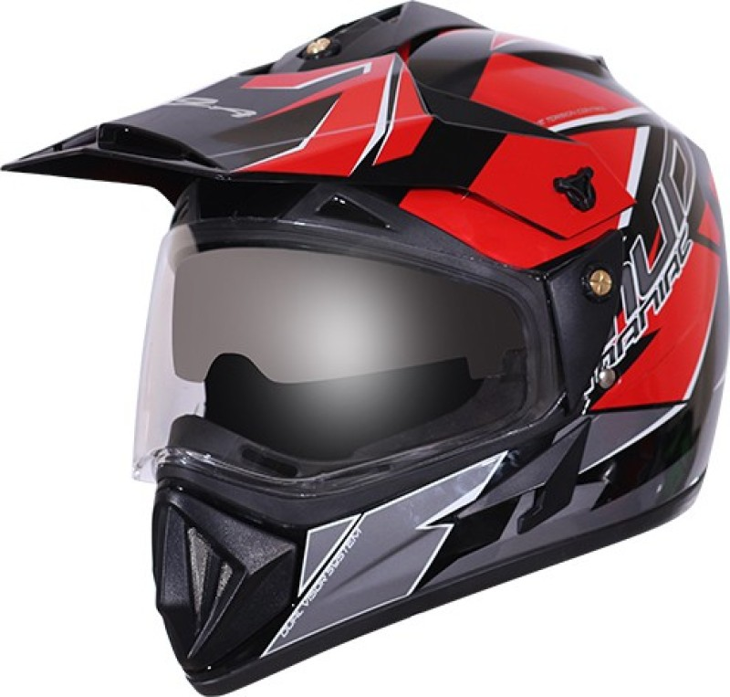 VEGA OFF ROAD D/V MUD Dull Black Orange HELMET Motorbike Helmet(Dull Black Orange)