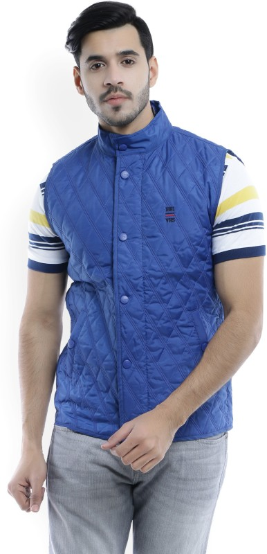Van Heusen Sport Sleeveless Self Design Mens Jacket