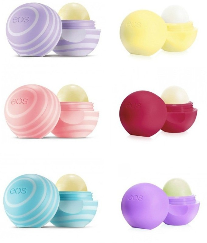 Eos Organic Lip Balms Set - Blackberry Nectar, Vanilla Mint, Coconut Milk, Vanilla Bean, Pomegranate Raspberry and Passion Fruit Multi(40.8 g)