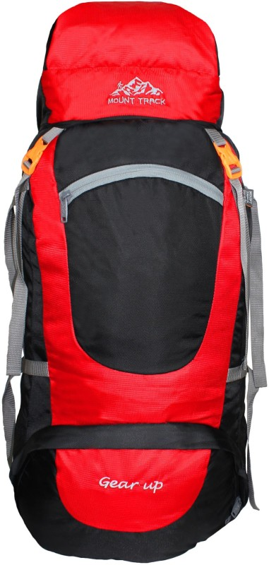 Mount Track Gear up, Rucksack, Hiking & Trekking Backpack Rucksack - 75 L(Red)