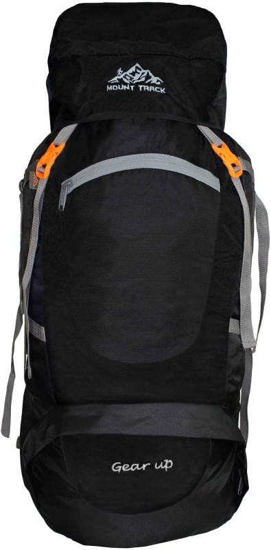 Mount Track Gear up, Rucksack, Hiking & Trekking Backpack Rucksack - 75 L(Black)