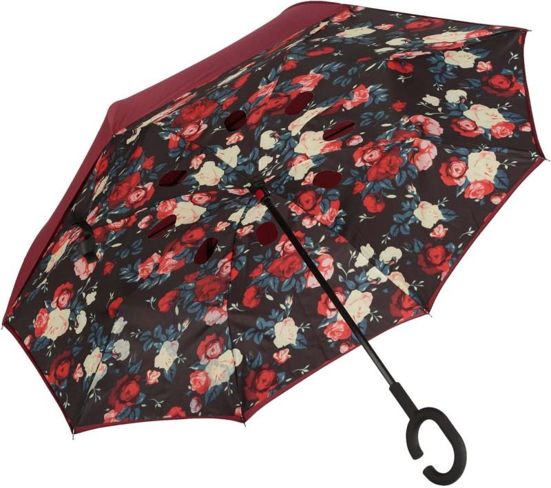AASTHAMIQ MaroonUmbrella02 Umbrella(Maroon)