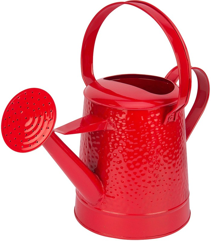NUHA 5.5 Liters Watering Can - Rust Free Gardening Tools 5.5 L Water Cane(Red, Pack of 1)