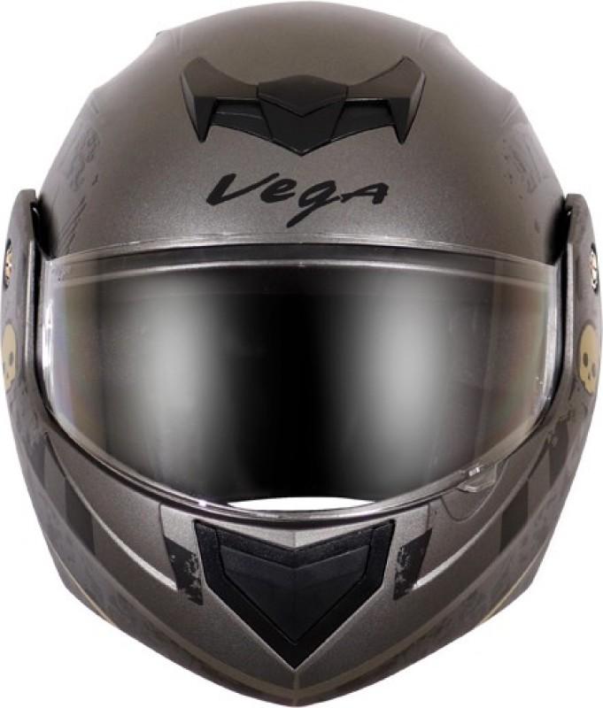 VEGA CRUX DX SPARK DULL ANTHRACITE BLACK HELMET Motorbike Helmet(DULL ANTHRACITE BLACK)