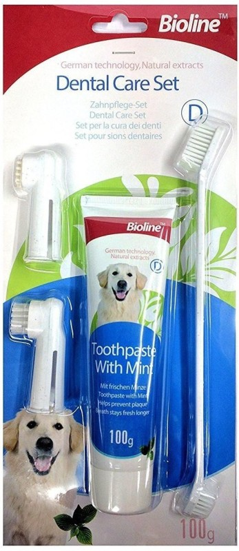 Goofy Tails Bioline Toothbrush Set For Dogs & Cats Pet Toothbrush(Dog & Cat)