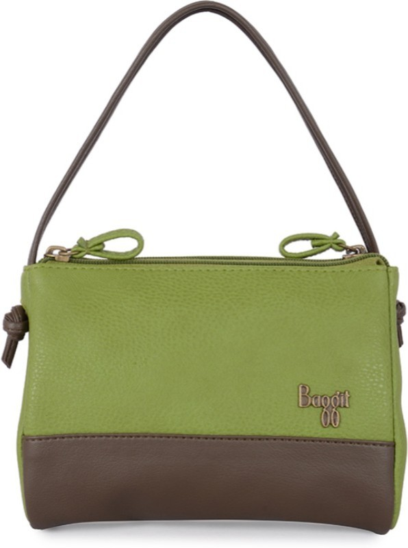 Baggit Hand-held Bag(Green, Brown)