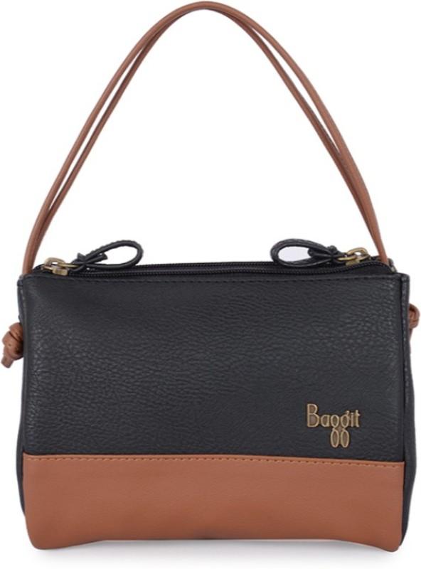 Baggit Hand-held Bag(Black, Brown)