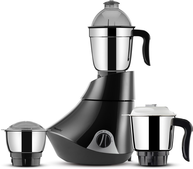 Butterfly Smart 3 Jar 750 watts 750 Mixer Grinder(Grey, 3 Jars)