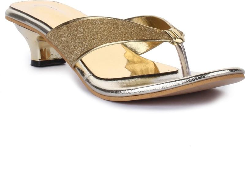 Adorn Women Golden Heels