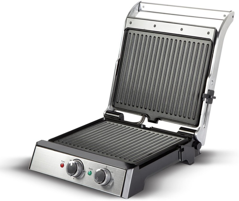 havells Toastino 4 Slice Grill & Bbq With Timer 2000-Watt Sandwich Toaster (Black) Open Grill(Black)