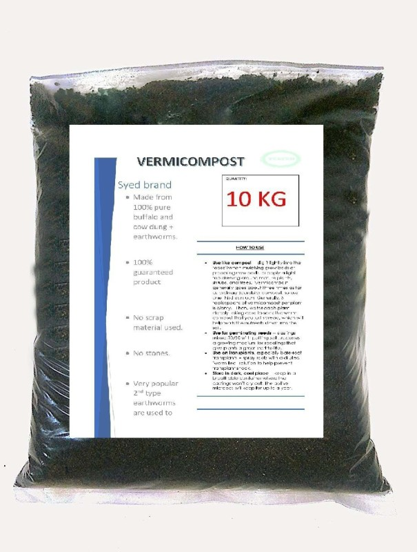 advancedestore Enriched Vermi Compost To Make Soil Fertile (10 Kg) Soil Manure(10 kg Powder)
