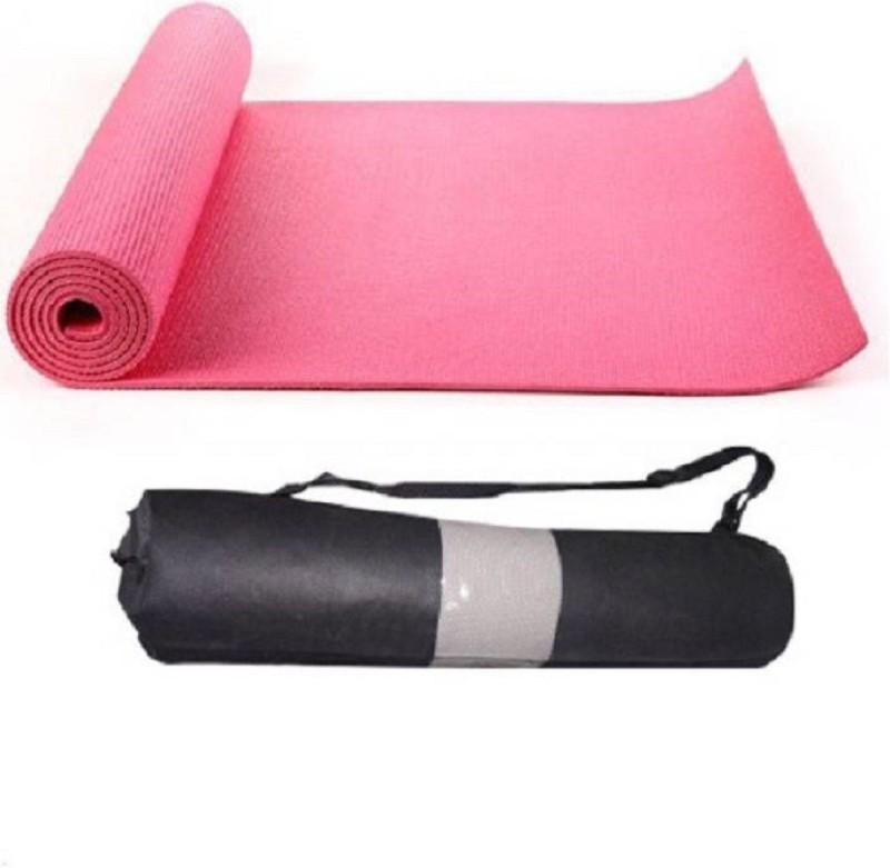 Quick Shel 6MM 100%EVA Eco Friendly Mat PINK 6mm Yoga, Exercise & Gym Mat With Bag Pink 6 mm Yoga Mat