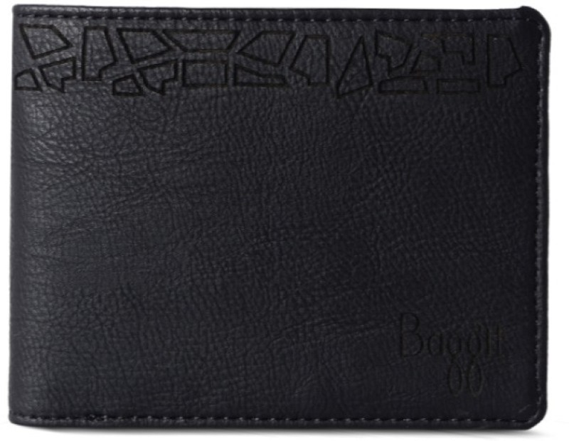 Baggit Men Casual, Formal Black Artificial Leather Wallet(12 Card Slots)