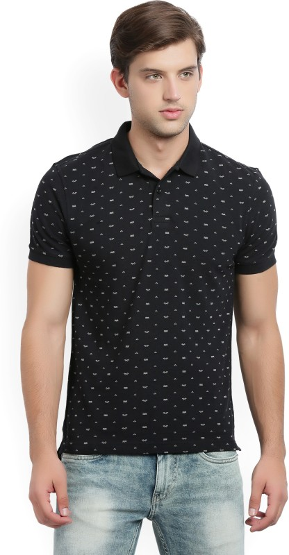 Levis Printed Mens Polo Neck Black T-Shirt
