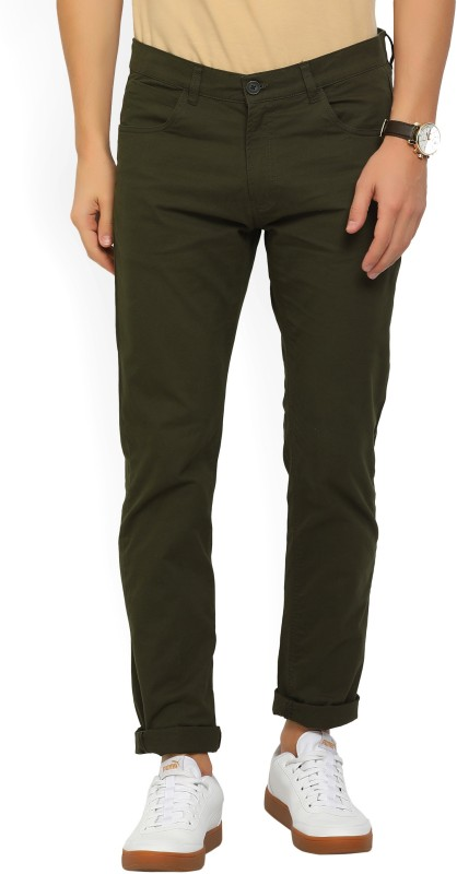 French Connection Regular Fit Mens Green Trousers