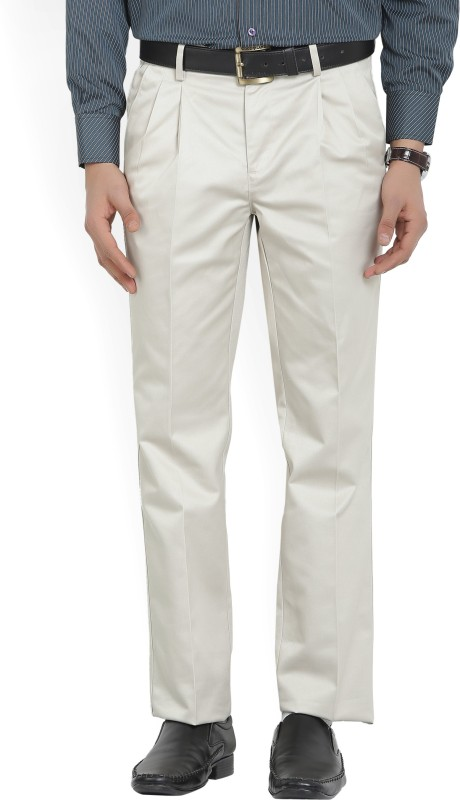 Van Heusen Regular Fit Mens Beige Trousers