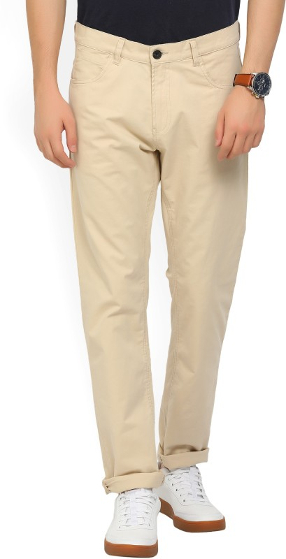 French Connection Regular Fit Mens Beige Trousers